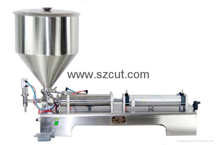 Tomato paste filling machine,Oil filler machine,Ointment Filler X-01G 1