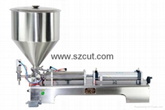 Tomato paste filling machine,Oil filler machine,Ointment Filler X-01G