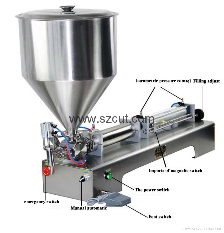 Tomato paste filling machine,Oil filler machine,Ointment Filler X-01G 3