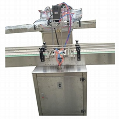 Automatic High Speed Inline Type Bottle Capping Machine For Plastic Screwing Cap