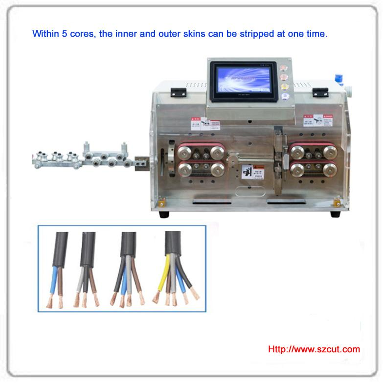 圓護套多芯雙層內外皮剝線機 X-505HT 1