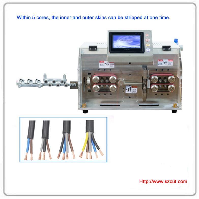 Automatic Round sheath multi-core stripping machine 1