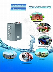 3 ppm water ozonator, instant and continuous work, for public hygiene