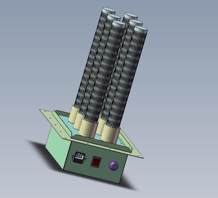 air duct plasma air purifier, remove dust, odor, bacteria, virus increase oxygen 2