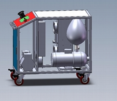 10ppm ozone water sterilizer, movable, food sterilizer, factory disinfection