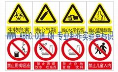 實驗室安全警示標識