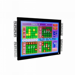 15 17 19 inch POG WMS 3M Controller  LCD Game touch monitor