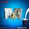 低熔点合金铜工艺品喷砂用模具硅胶