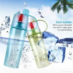 Creative Sports Water Bottle Spray Water Bottle Simple and Stylish Plastic Bottl
