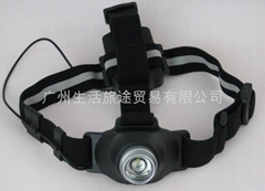 西安旋轉調焦無級變光LED強光頭燈