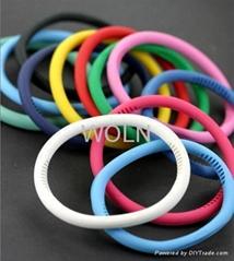 Health Bracelet(ISO9001:2000/SGS Report/ OEM Silicone Bracelet Ion Bracelet)