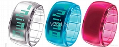 ODM watches ISO9001:2000/SGS Report/OEM Bracelet Colorful LED watch Jelly Watch