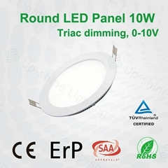 Dimmabe round 10W 600lm LED panel lamp