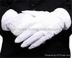 全棉背觔扣子禮儀手套