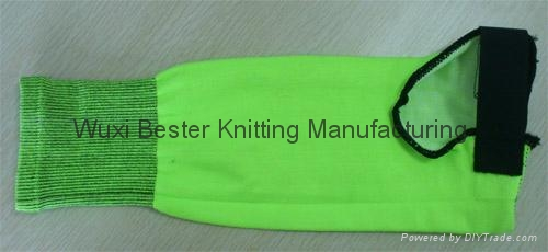 fluorescent green meat processing cut resistance arm guard 1