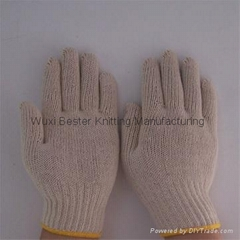 computer machine made cotton knitted gloves industrial gloves