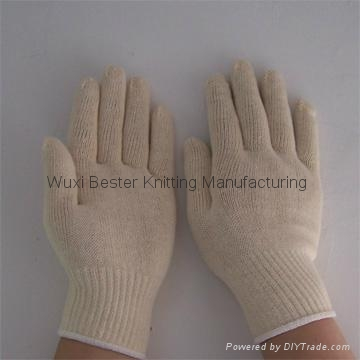 yarns knit T/C knitted safety gloves 1