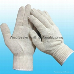 cotton string knit work glove
