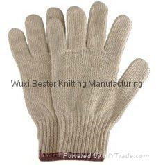 7G cheap cotton yarn knitted hand glove  1