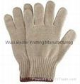 7G cheap cotton yarn knitted hand glove