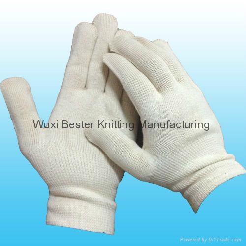 cotton string knit work glove  2