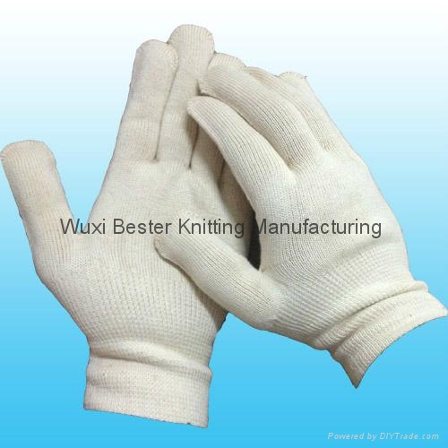 100% Cotton Knitted Seamless Gloves  1