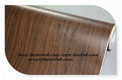 Wood grain thermal transfer foil