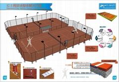 紅土網球場