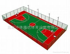 呼市塑胶篮球场施工