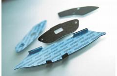 消音片橡胶金属复合板特氟龙涂料