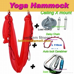 TOP quality Aerial Yoga Hammock Inversion Swing Trapeze yoga