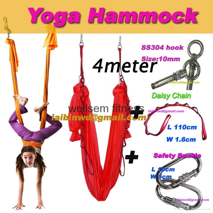 Medium image of 4meter full set aerial yoga hammock pilates workout yoga inversion swing trapeze 1