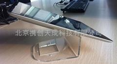 2012 Ipad3透明水晶平板電腦支架圓盤底座