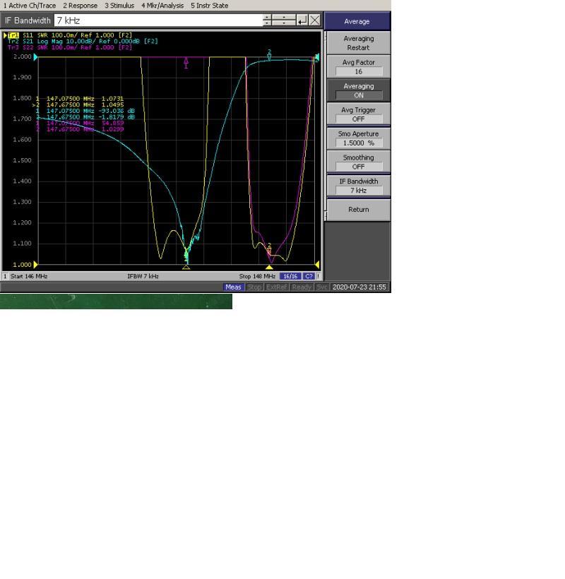 VHF  6 cavity  0.6Mhz  spacing  Duplexer   2