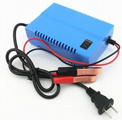 G60 12f4 12.8V LiFePO4 Battery Smart Charger with Battery Meter