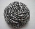 Low Price Kitchen Scrubber Stainless Steel Scourer Wire Cleaning Ball 2