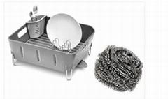 Stainless Steel Scourer Scrubber Iron Ball in Kitchen Cleaner