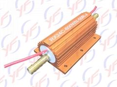 金色600W铝外壳水冷电阻器