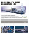 PE/PP sheet extrusion line
