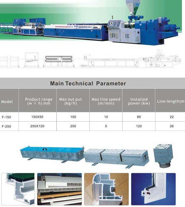 PVC window & door profile extrusion line 1