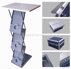 Brochure Holder With Table
