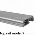 aluminum clamp roll up top rail
