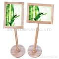 Bamboo Poster Stand