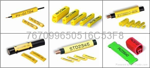 瑞典PARTEX可印字彩色扁型号码管 线号管 标识管 1