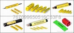 瑞典PARTEX可印字彩色扁型号码管 线号管 标识管
