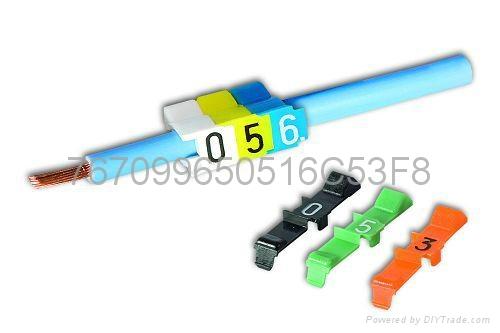 瑞典PARTEX开口卡式彩色C型抗油号码管 标记管 管道标识 1