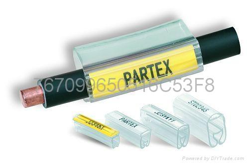 瑞典PARTEX环保UL透明号码管 线缆标识标签 1