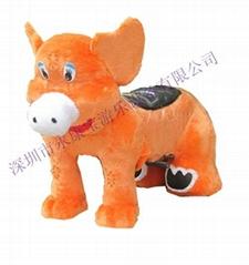毛絨電動玩具車大熊貓