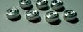 Aluminium caps with rubber liner