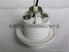 E27 白电木内牙灯头